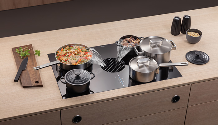 Bora X Pure flush integrated cooktop and extractor with SControl touch controls