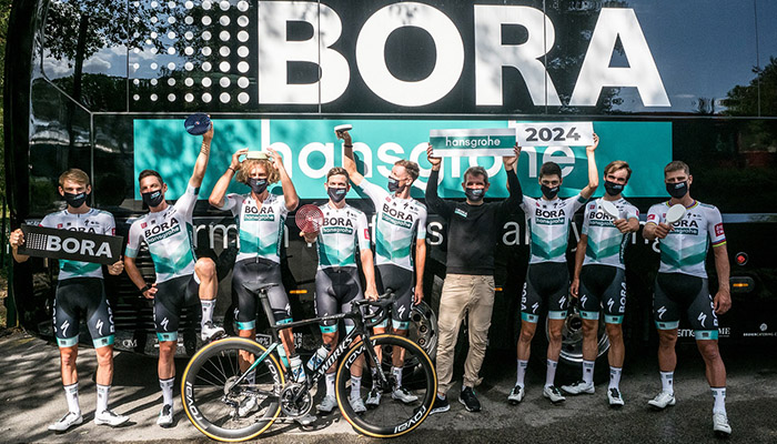 Bora's research indicates that its brand awareness is growing more quickly and strongly in markets with a connection to cycling, hence its continued sponsorship of the Bora-Hansgrohe cycling team
