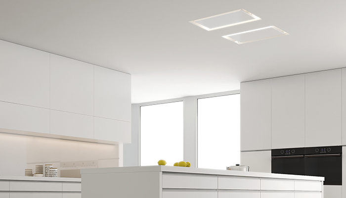 Pando's E-251 hood fits inside the ceiling offering total minimalism – it measures 1230mm wide and has an A+ energy rating
