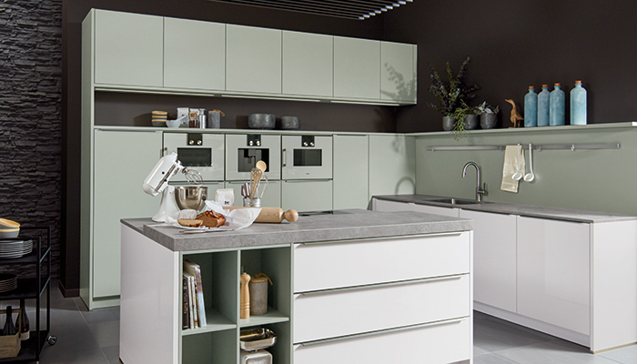 Pronorm adds new on trend Grey-Green matt lacquer door finish